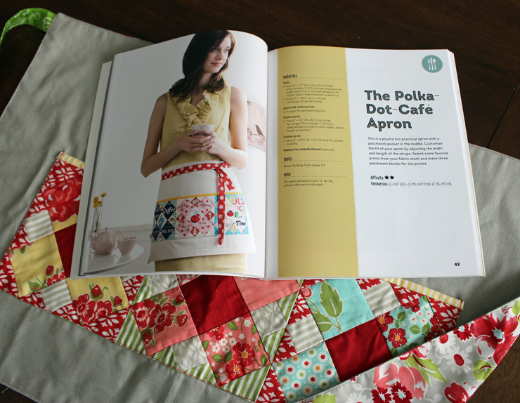 cafe apron book page