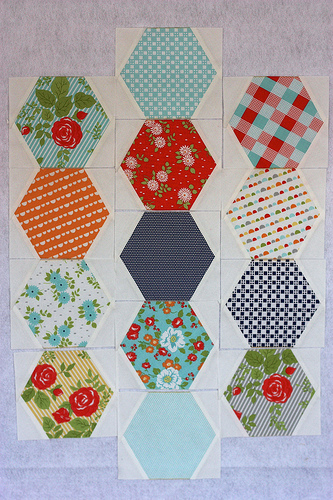 hexagon chevrons