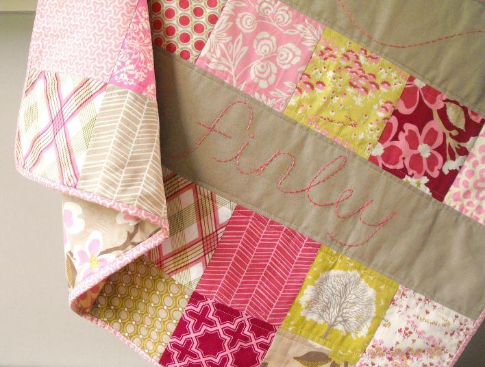 Linen Baby Quilt