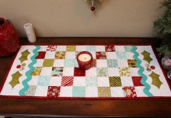 Christmas Holly Table Runner