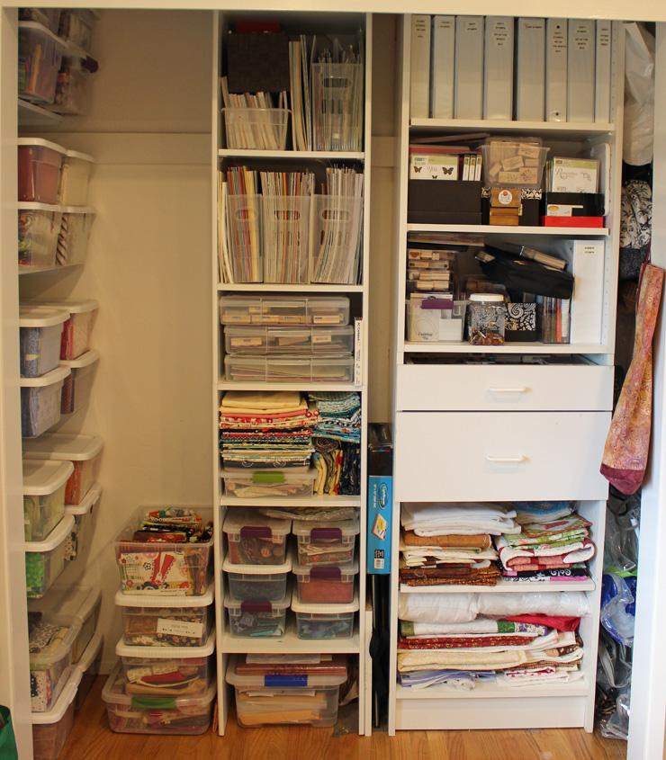 Storage Closet @ The Crafty Quilter