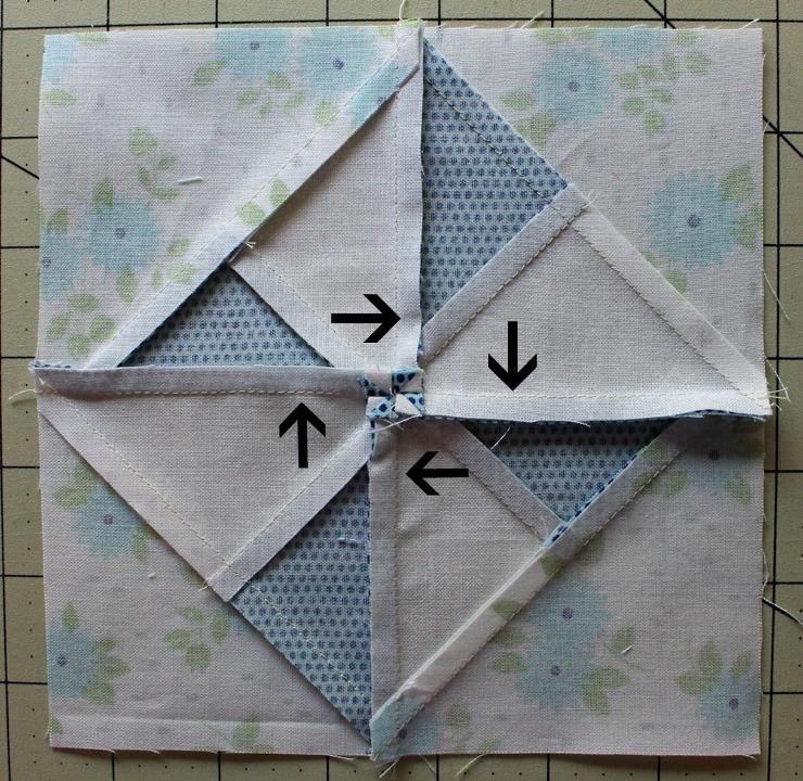 pinwheel spiral arrows