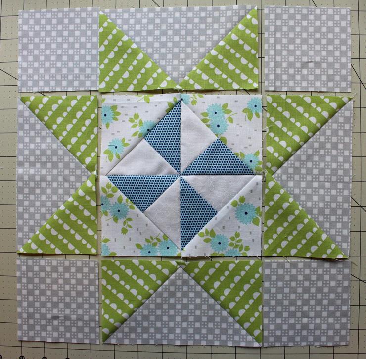 pinwheel star laid out