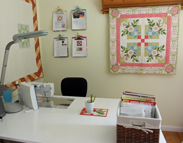 Sewing room table @ The Crafty Quilter