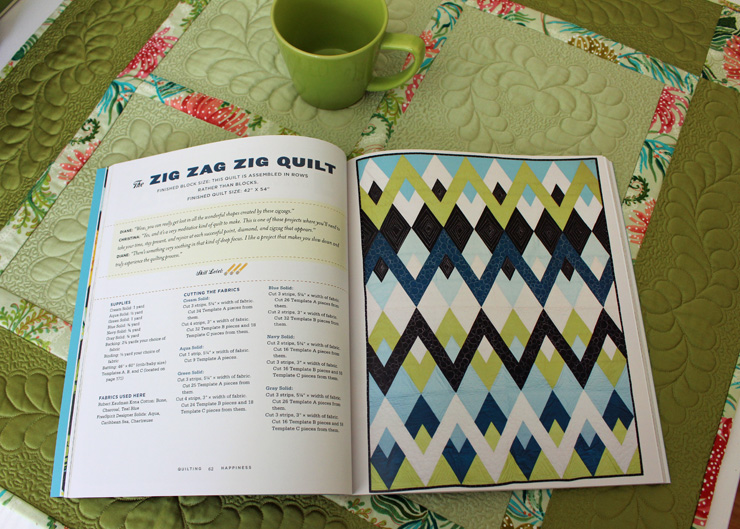 Quilting Happiness - Zig Zag Zig Quilt