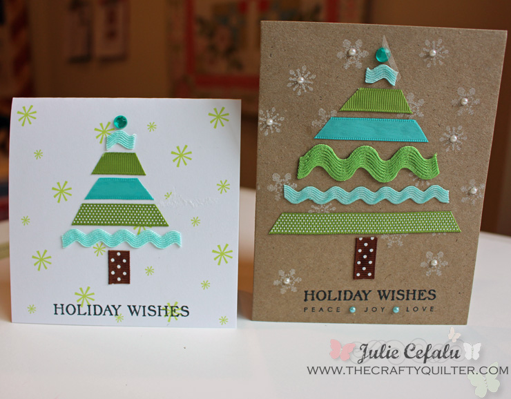 Handmade Christmas Cards @ The Crafty Quilter