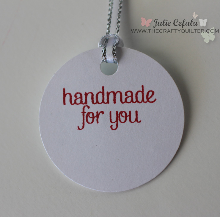 handmade by you gift tag