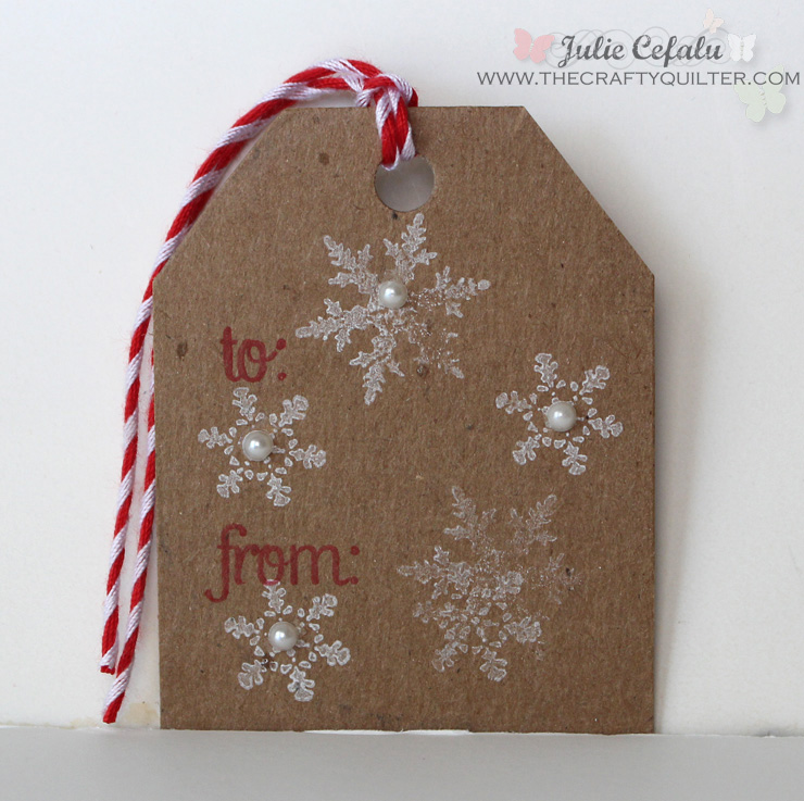 Snowflakes Gift Tag