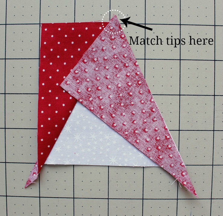 star point right side stitiched and matched