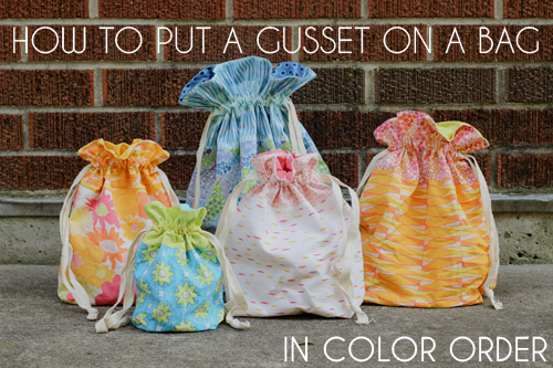 How to Put a Gusset Video Tutorial @ In Color Order
