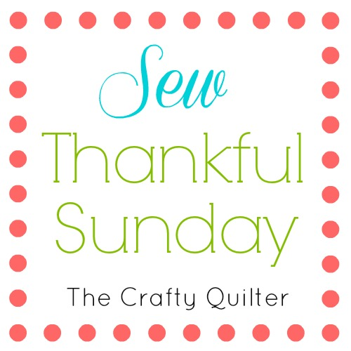 Sew Thankful Sunday, April 2018 at The Crafty Quilter. Lots of ideas to inspire your creativity for the Spring time!