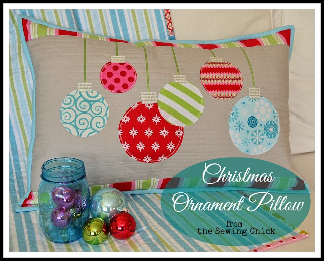 Christmas Ornament Pillow @ The Sewing Chick