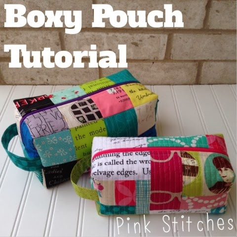 Boxy Pouch Tutorial @ Pink Stitches