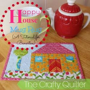 Happy House Mug Rug Tutorial by Julie Cefalu for Benartex