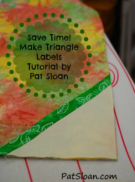 Triangle Labels Tutorial by Pat Sloan