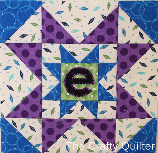 E Block from A-Z for Ewe and Me BOM, made by Julie Cefalu