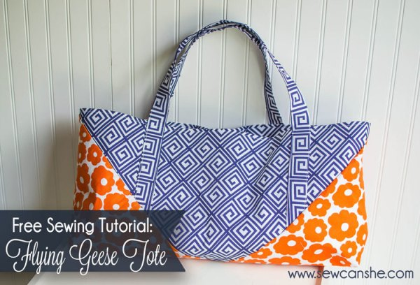 Flying Geese Tote Bag @ Sew Can She