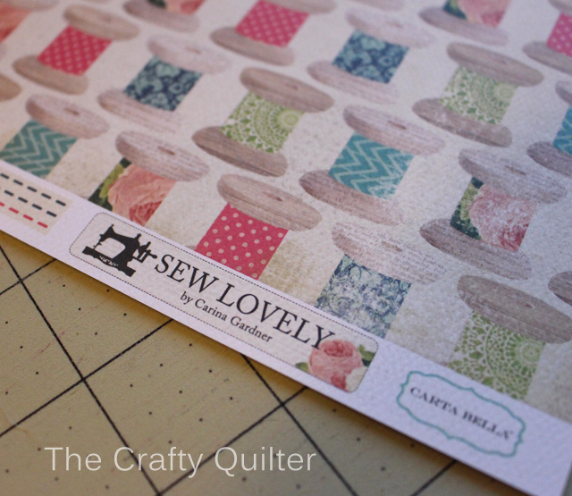 Sew Lovely cardstock designed by Carina Gardner for Carta Bella Paper