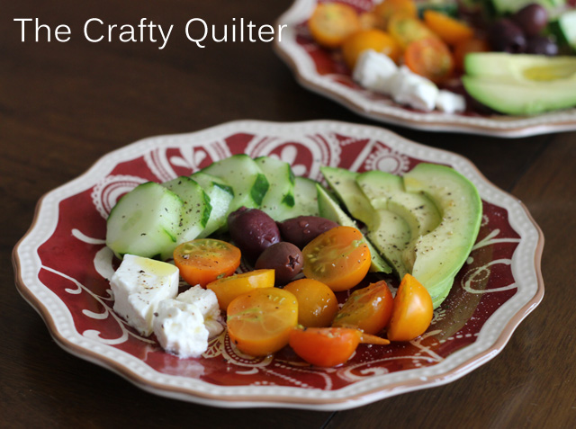 Composed Salad Plate @ The Crafty Quilter