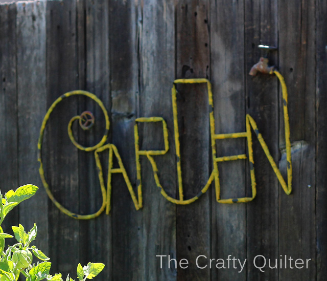 garden sign copy