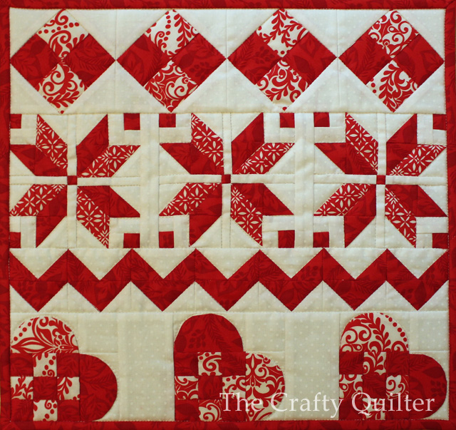 Nordic Mini Quilt by Julie Cefalu @ The Crafty Quilter