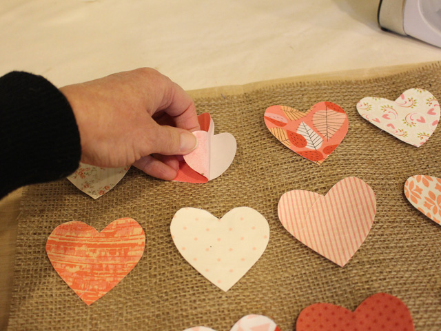 Hearts & Burlap Canvas Tutorial @ The Crafty Quilter