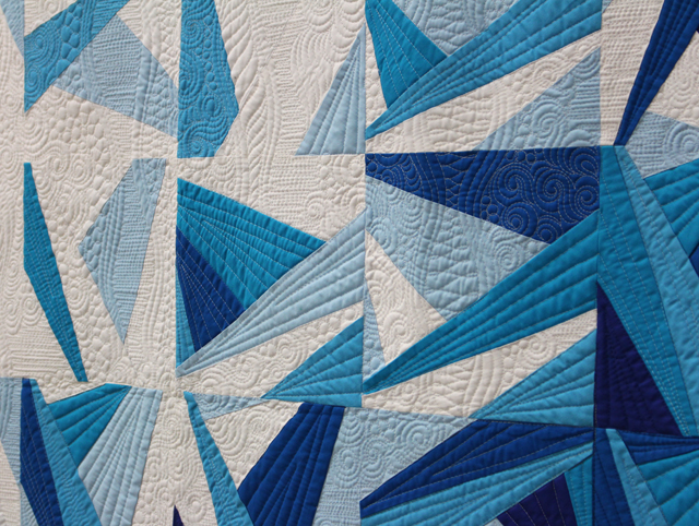 """Quilting Detail of """"Icy Waters"""" by Amy Garro"""