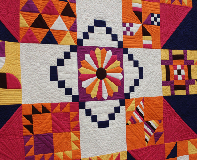 "Quilting Detail of ""Moccasin"" by Anne Marie Chany"
