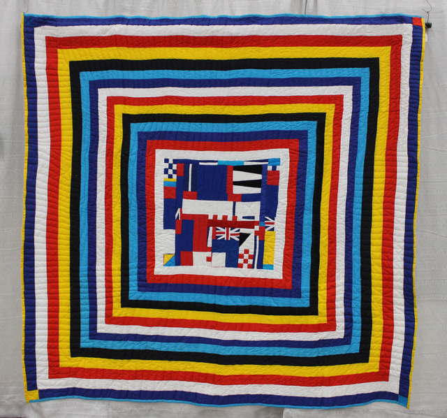 """Railroad Crossing"" from The Quilts of Gee's Bend Exhibit"