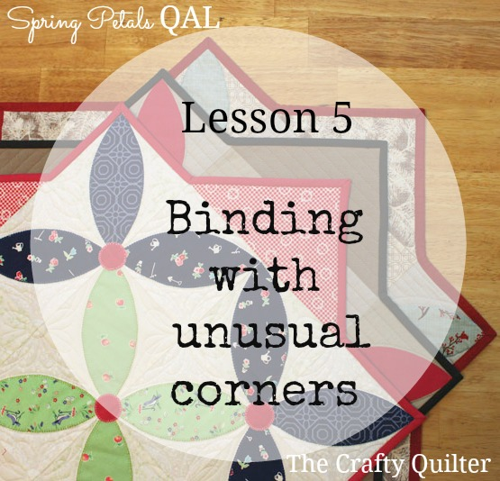 Spring Petals QAL, Lesson 5:  Binding @ The Crafty Quilter