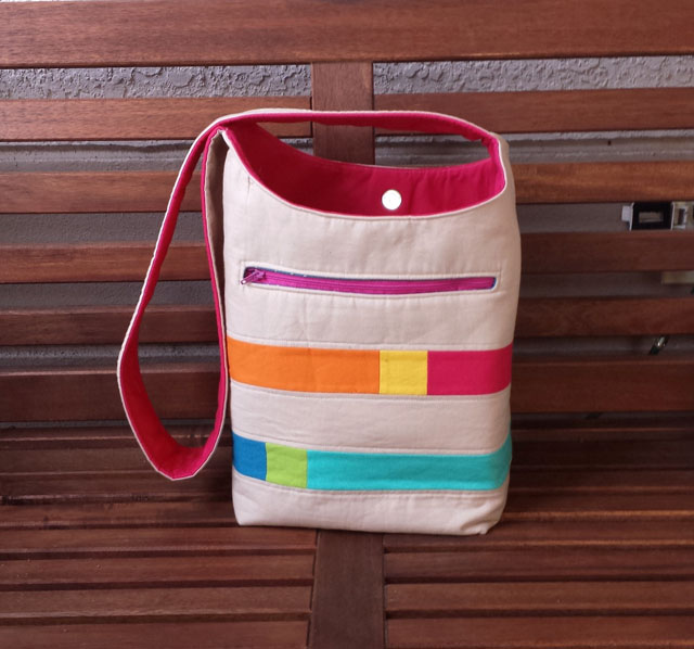 Color Block Bucket Bag by Jennifer Wiatrowski