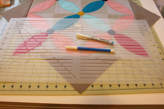 How To Use Stencils In Quilting : Spring Petals QAL, Week 4 - The Crafty Quilter