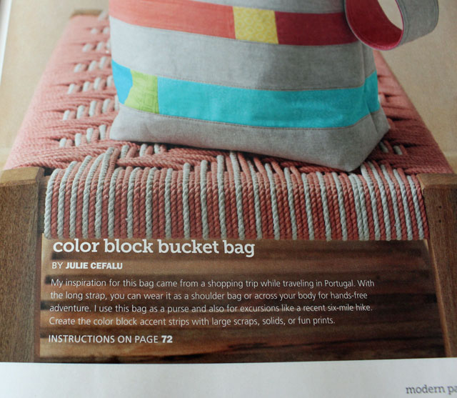 Color Block Bucket Bag by Julie Cefalu, in Modern Patchwork Magazine