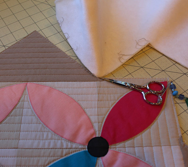 quilt trimmed snip corners