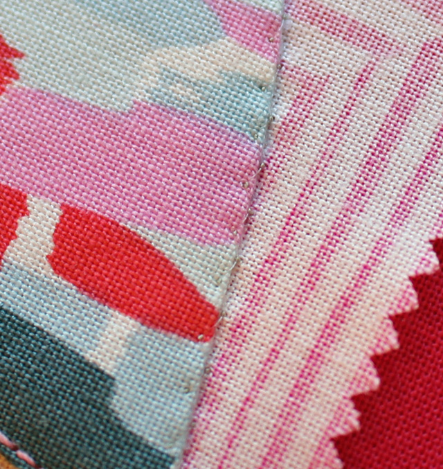 turned edge zig close up