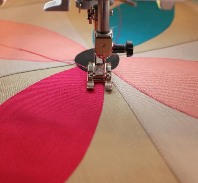 Machine Applique Lesson, Spring Petals QAL @ The Crafty Quilter