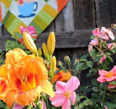 flowers and blocks