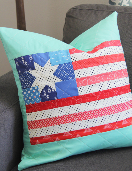 Flag pillow and block tutorial