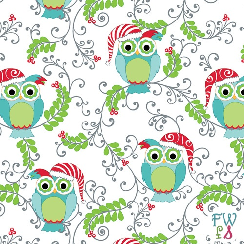 Frosty forest owls