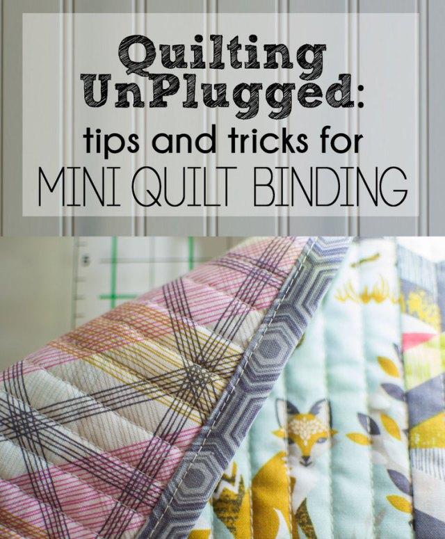 Tips for Mini Quilt Binding