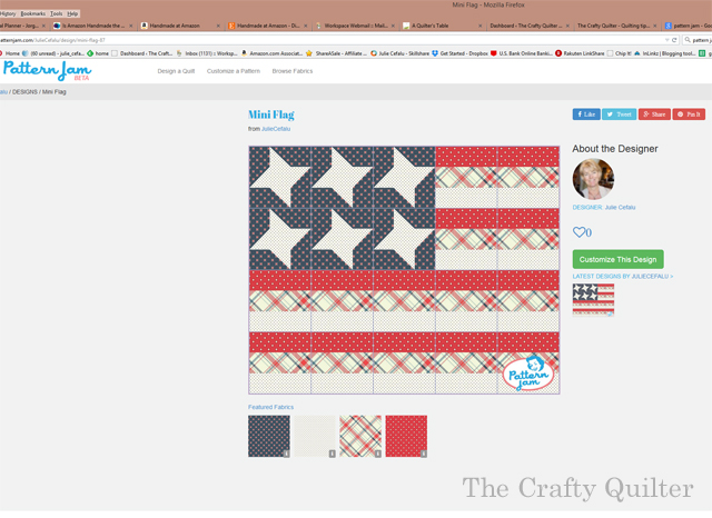 patternjam mini flag