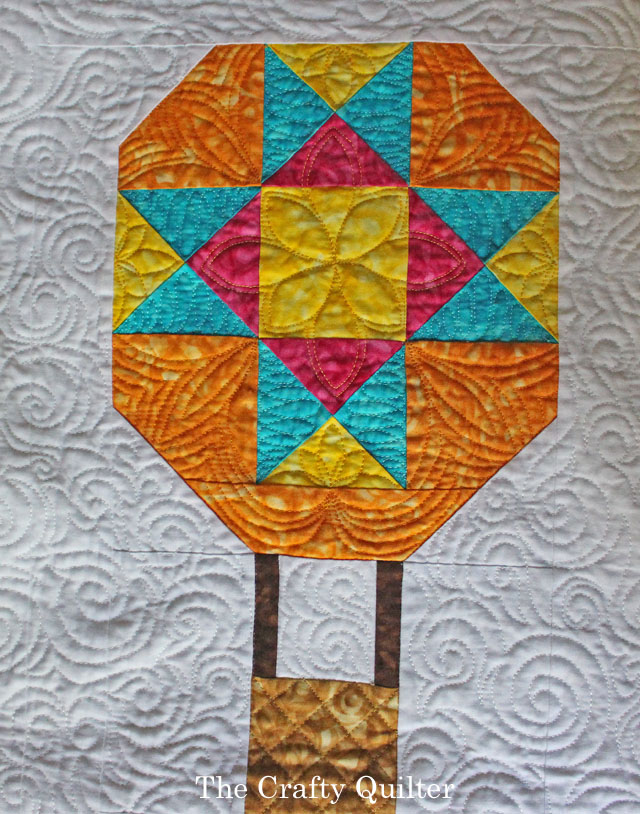 """""""Watch Out for Those Geese!"""" designed and quilted by Julie Cefalu for the Jaftex Blog Hop"""