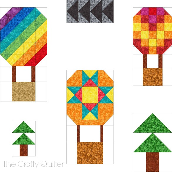 Hot Air Balloon Mini Quilt by Julie Cefalu @ The Crafty Quilter