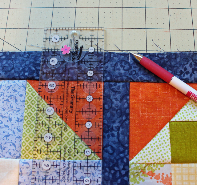 matching seams line drawn