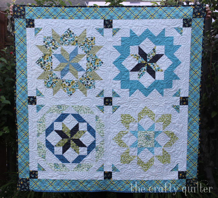Supersized Stars Quilt made by Julie Cefalu; my April 2016 UFO completed