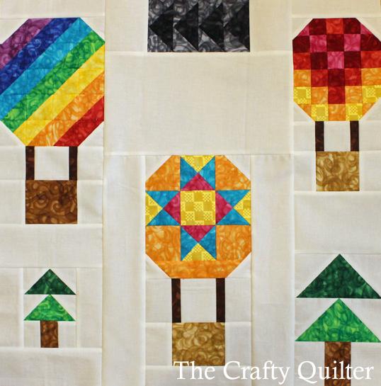 Hot Air Balloon Mini Quilt by Julie Cefalu
