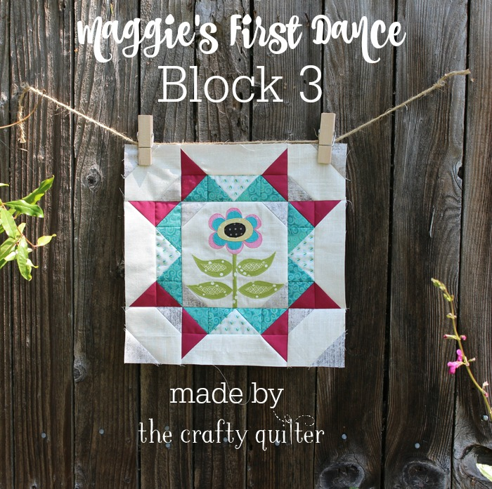Maggie's First Dance Block 3 made by Julie Cefalu @ The Crafty Quilter