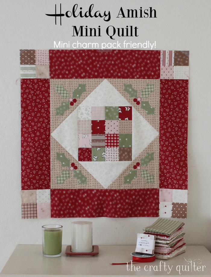 Holiday Mini Amish Quilt, a free pattern @ The Crafty Quilter