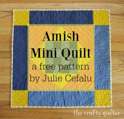 Amish Mini Quilt, a free pattern @ The Crafty Quilter