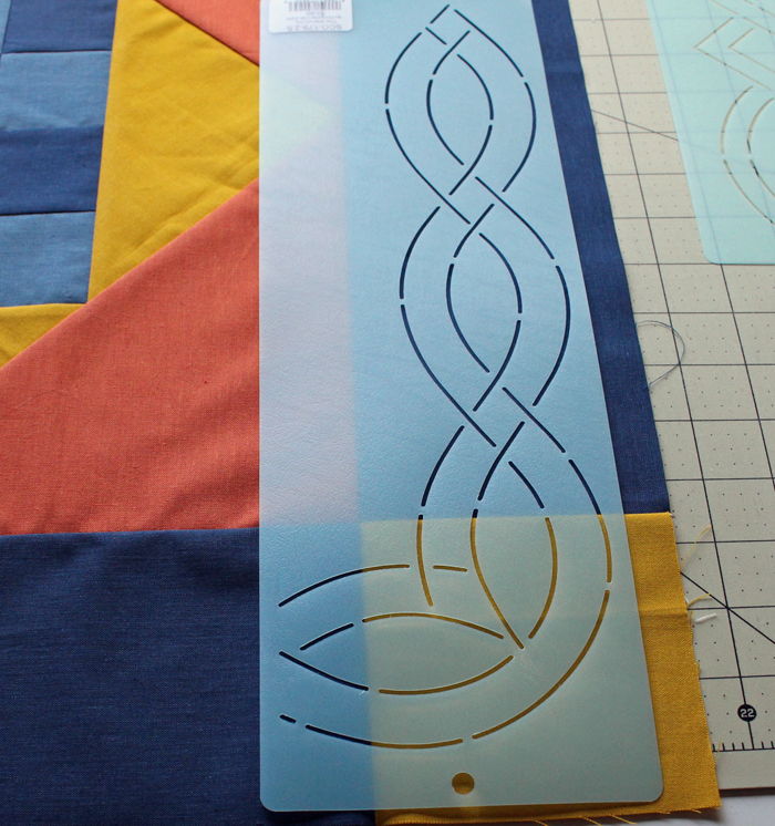 How to use stencils for quilting - The Crafty Quilter : quilting border stencils - Adamdwight.com